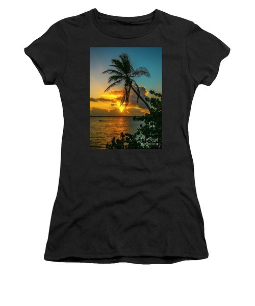 Tropical Lagoon Sunrise Women's T-Shirt (Athletic Fit)