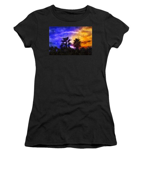 Tropical Night Fall Women's T-Shirt (Junior Cut) by Francesa Miller