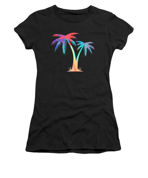 Tropical Palm Trees Women's T-Shirt (Athletic Fit)