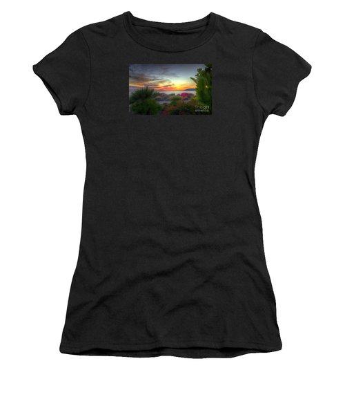Tropical Paradise Sunset Women's T-Shirt