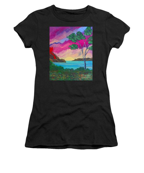 Tropical Volcano Women's T-Shirt (Athletic Fit)