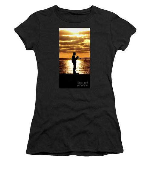 Trumpet Player Women's T-Shirt (Athletic Fit)