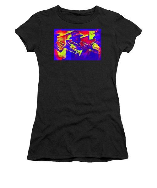 Trumpet Player Pop-art Women's T-Shirt
