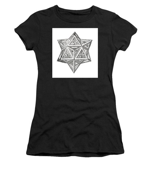 Truncated And Elevated Hexahedron With Open Faces Women's T-Shirt