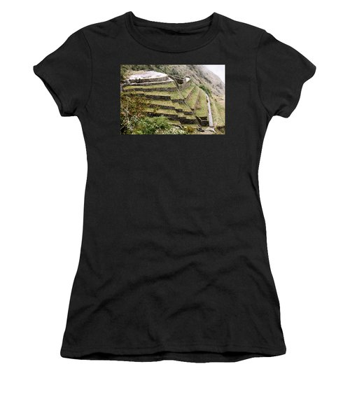 Tucked In A Mountain Women's T-Shirt (Athletic Fit)