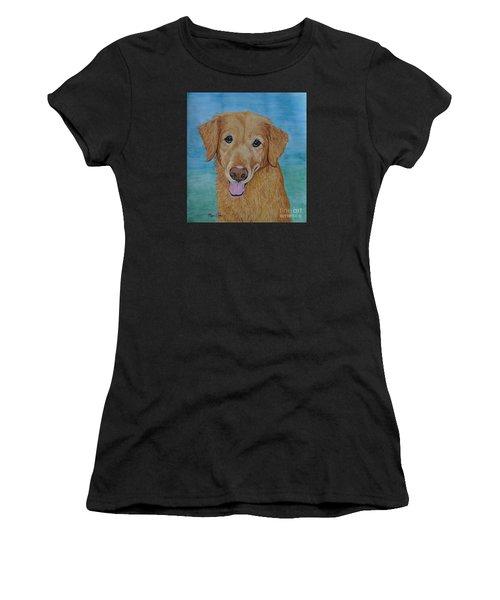 Tucker The Golden Retriever Women's T-Shirt (Athletic Fit)