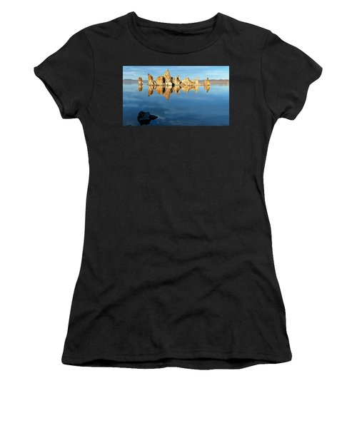 Tufa Reflection At Mono Lake Women's T-Shirt