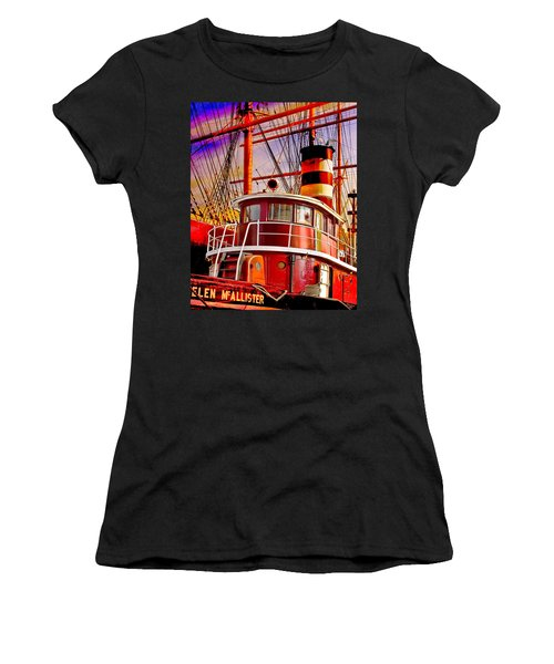 Women's T-Shirt (Junior Cut) featuring the photograph Tugboat Helen Mcallister by Chris Lord