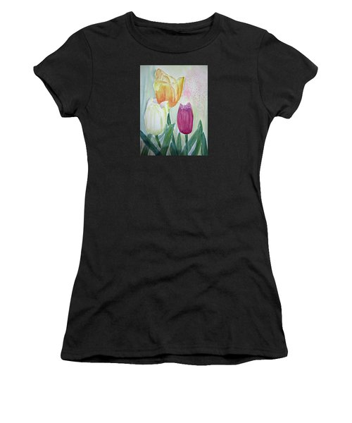 Tulips  Women's T-Shirt (Junior Cut) by Elvira Ingram