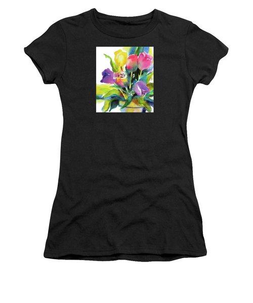 Tulip Pot Women's T-Shirt (Athletic Fit)