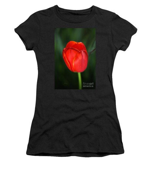Tulip Red With A Hint Of Yellow Women's T-Shirt