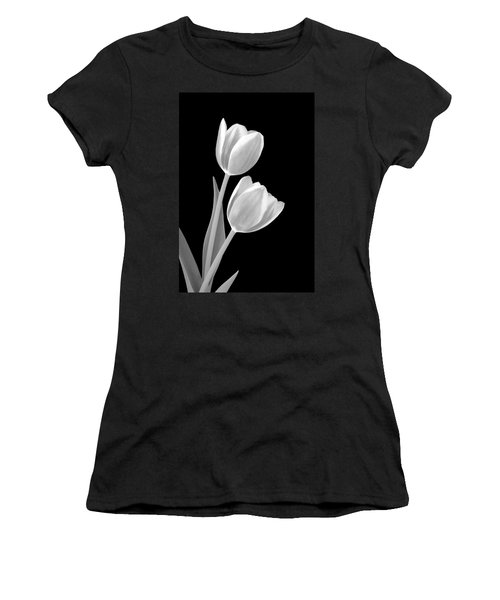 Tulips In Black And White Women's T-Shirt