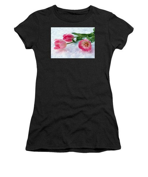 Tulips In Snow Women's T-Shirt