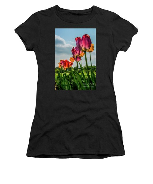 Tulips In The Spring Women's T-Shirt (Junior Cut) by Jane Axman