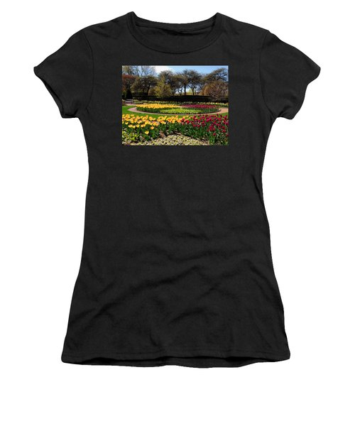 Tulips In The Spring Women's T-Shirt (Junior Cut) by Teresa Schomig