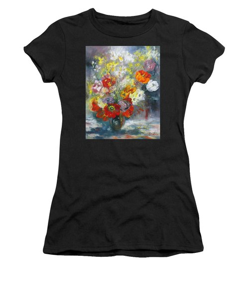 Tulips, Narcissus And Forsythia Women's T-Shirt