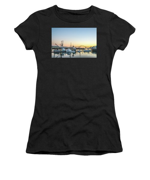 Tuna Boats Resting For The Night Women's T-Shirt