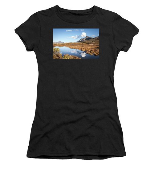 Tundra Pond Reflections In Fall Women's T-Shirt (Athletic Fit)