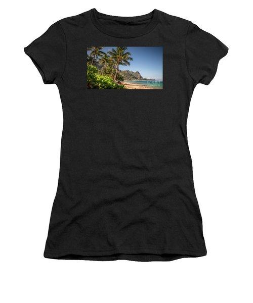 Tunnels Beach Haena Kauai Hawaii Bali Hai Women's T-Shirt