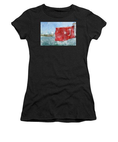 Turkish Flag Women's T-Shirt