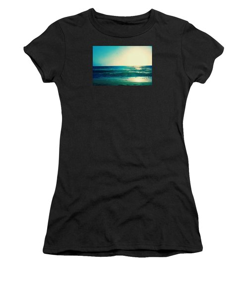 Turquoise Waves Women's T-Shirt (Athletic Fit)