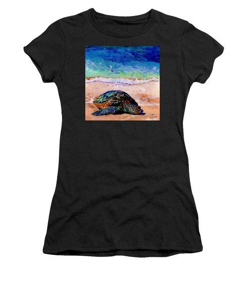 Turtle At Poipu Beach 9 Women's T-Shirt