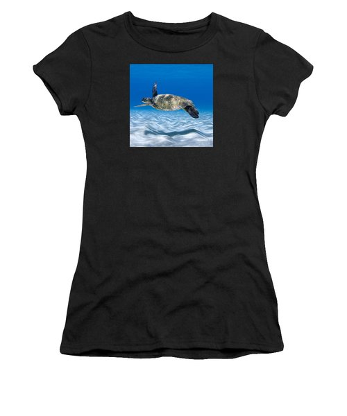 Turtle Flight -  Part 2 Of 3  Women's T-Shirt (Athletic Fit)