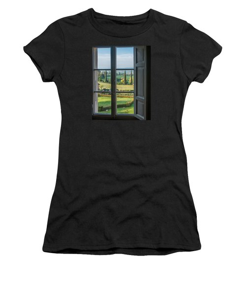 Tuscany Out My Window Women's T-Shirt (Athletic Fit)