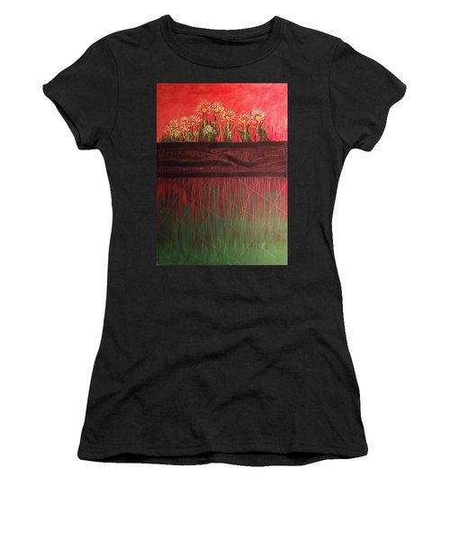 Twelve Daises In Window Box Women's T-Shirt
