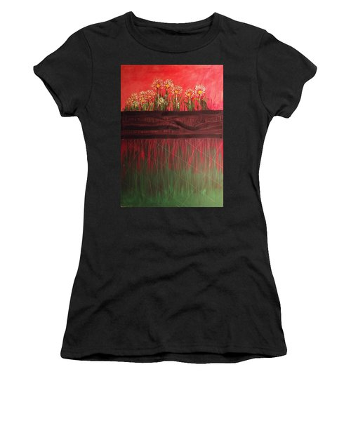 Twelve Daises In Window Box Women's T-Shirt (Athletic Fit)