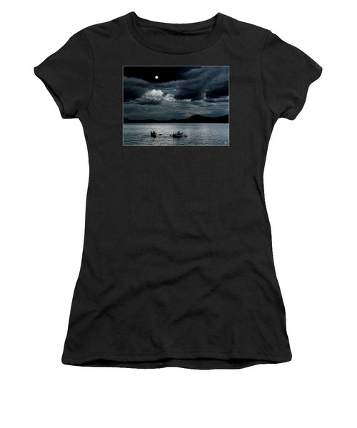 Women's T-Shirt featuring the photograph Twice In A Blue Moon by Wayne King