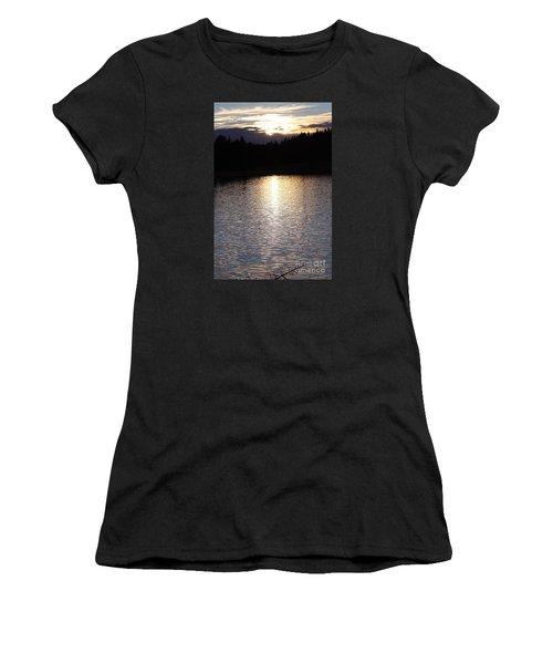 Twilight Glitter Pattern Light Show Women's T-Shirt (Athletic Fit)