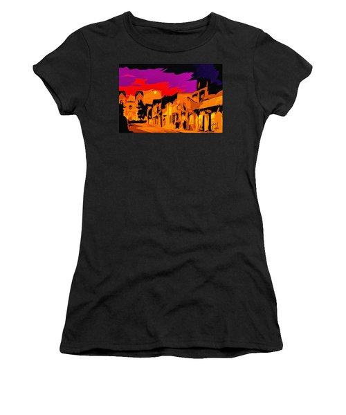 Twilight On The Plaza Santa Fe Women's T-Shirt (Athletic Fit)
