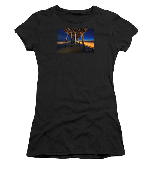 Twilight Under The Imperial Beach Pier San Diego California Women's T-Shirt (Athletic Fit)