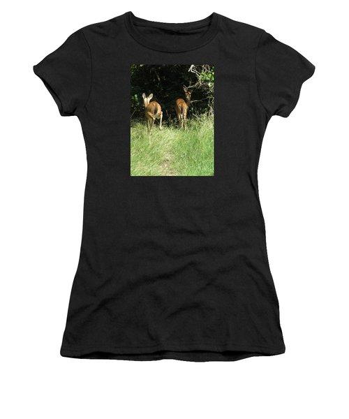 Twin Fawns Women's T-Shirt (Junior Cut) by Phyllis Beiser