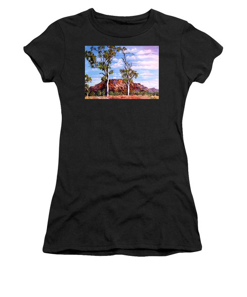 Twin Ghost Gums Of Central Australia Women's T-Shirt