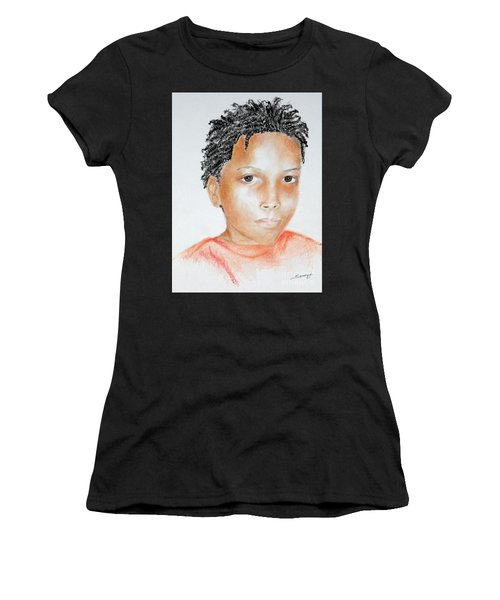 Twists, At 9 -- Portrait Of African-american Boy Women's T-Shirt (Athletic Fit)