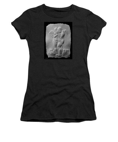 Two Angels Women's T-Shirt (Junior Cut) by Suhas Tavkar