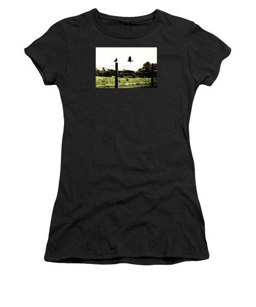 Two Birds Women's T-Shirt (Junior Cut) by Carlee Ojeda