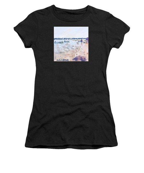 Two Boats At Ten Pound Island Beach Women's T-Shirt (Athletic Fit)