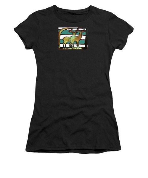 Two Bucks 3 Women's T-Shirt (Athletic Fit)