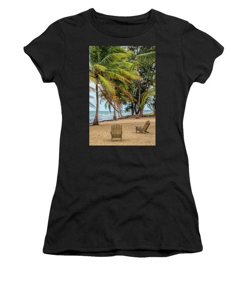 Two Chairs In Belize Women's T-Shirt (Athletic Fit)
