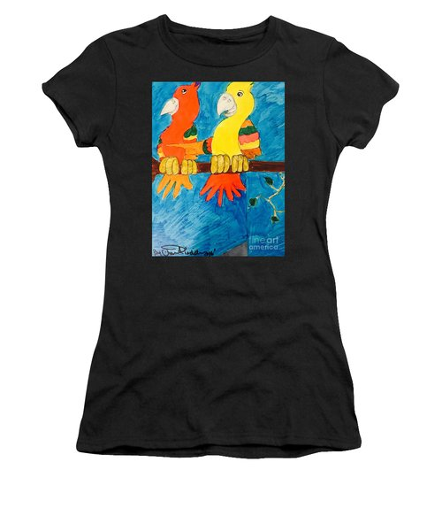 Two Double Yelloe Headed Birds Women's T-Shirt (Athletic Fit)