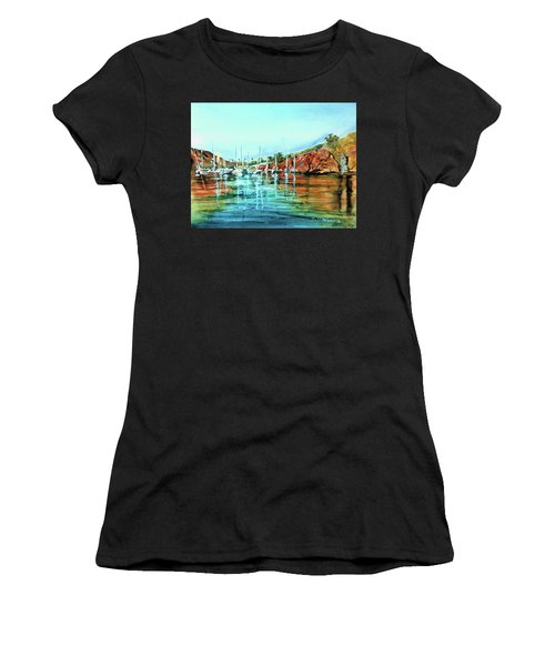 Two Harbors Catalina Morning Impressions Women's T-Shirt (Athletic Fit)