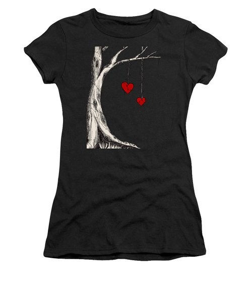 Two Hearts Graphic Women's T-Shirt (Athletic Fit)
