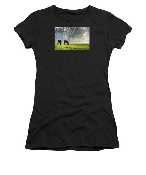 Two Horse Morning Women's T-Shirt