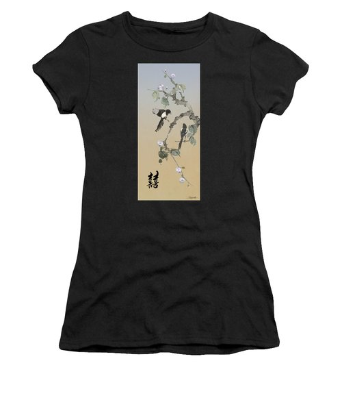 Two Magpies                       Women's T-Shirt (Athletic Fit)