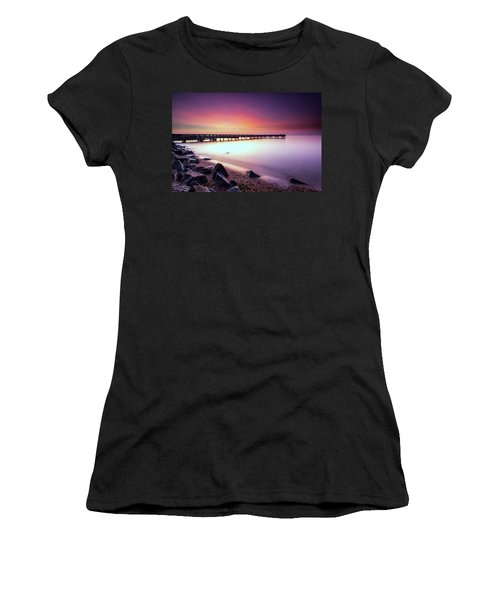 Two Minutes Of Blue Hour   Women's T-Shirt (Junior Cut) by Edward Kreis