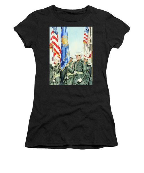 Two Months After 9-11  Veteran's Day 2001 Women's T-Shirt (Athletic Fit)