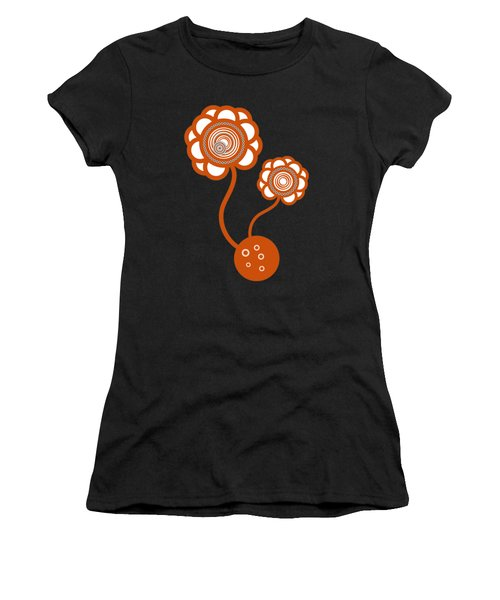 Two Orange Flowers Women's T-Shirt (Athletic Fit)